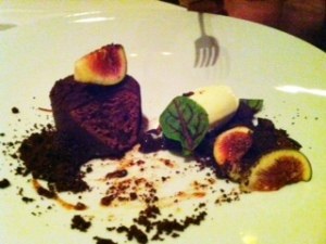 Figs & Chocolate Dessert at Providence Restaurant