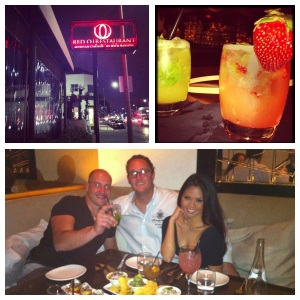 My boyfriend and I took our friend, Mauro, visiting from Italy to our favorite restaurant-- RED O! Favorites: La Dama Cocktail and Mojito Trio