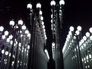 The famous lights of LACMA.